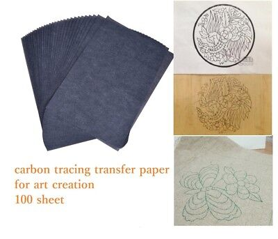 """Maaryee 100 Sheets Black Tracing Carbon Paper 8 X 12"""" Transfer Paper For DYI New"""