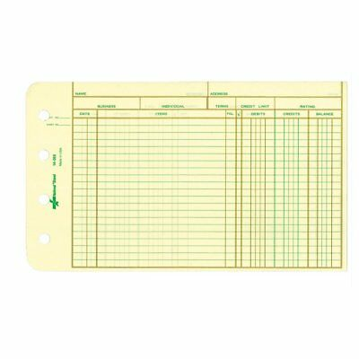 "National Brand 14-055 Ledger Sheets 5 x 8-1/2"" Eye-Ease Paper 100 Sheets"