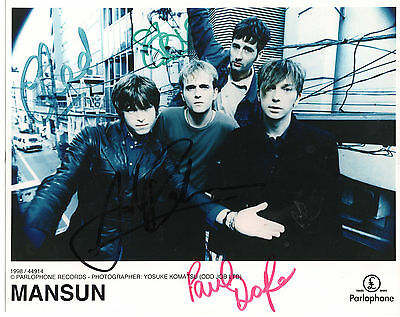 MANSUN - Fully Signed 10x8 Photograph - MUSIC - GROUP