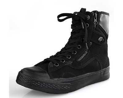 Fulinken US Size 5-11 Fashion Canvas Casual Flat Military Ankle Boots Mens Shoes