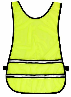 Time to Run High Vis Reflective Running Cycling Safety Bib - Yellow