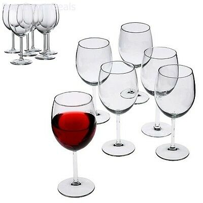 Set of 6 Luxury Italian Red Wine Glasses 18 Ounce Lead Free Wine Glasses New