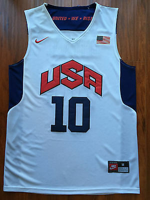 Kobe Bryant 10 Dream Team USA White 2012 Olympics Throwback Swingman Men Jersey