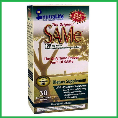 SAMe 400mg 30 Tablets by Nutralife - 5 HTP SAM-e L Tryptophan - AUS STOCK