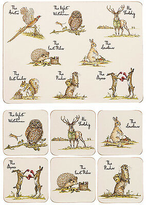 Churchill Country Pursuits Set of 6 Placemats Coasters