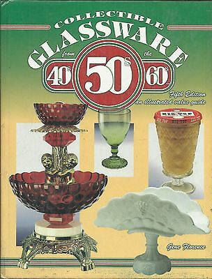 """""""Collectible Glassware 40s 50 60s"""" PRICE GUIDE BOOK Photos + Information Ex Cond"""