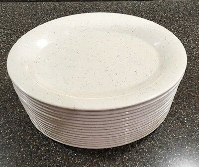 "15 Thunder Group Oval Melamine Plates  9.5"" By 7.25"" Speckled Preowned 209WS"