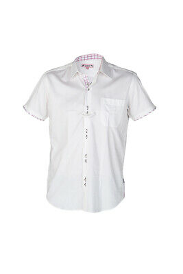 HORKA Mens Competition Show Shirt With Short Sleeves - White