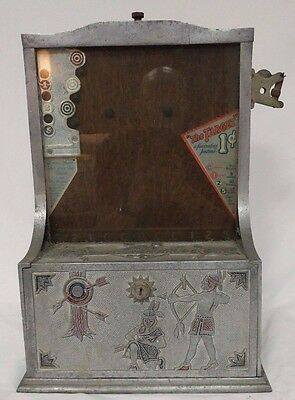 "Circa 1926 Mills ""The Target"" Trade Stimulator, Indian Theme Fully Functional!"