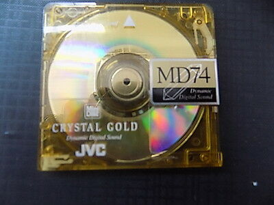 10 x J.V.C MD 74 CRYSTAL GOLD BLANK RE-CORDABLE MINI DISCS 74 MINUTES