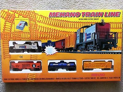 Amtrak Diesel Freight  Train Set Ho Ihc New 3 Freight Cars Has Track And Pack