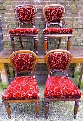 Victorian, Balloon Back Chairs set of 4