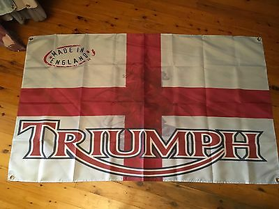Triumph 5 x 3 ft man cave pool room flag motor cycle biker garage flag