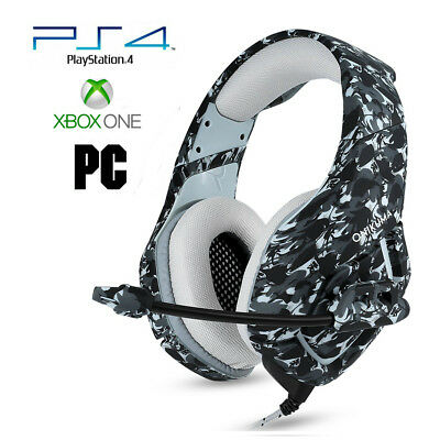 Pro Gamer PS4 Headset for PlayStation 4 Xbox One PC Computer Camo 2 Headphones