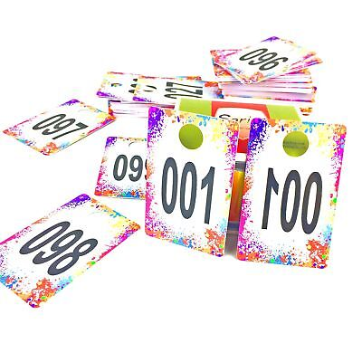 Live Sale Plastic Number Tags Normal Reverse Mirror Image Reusable Hanger Cards
