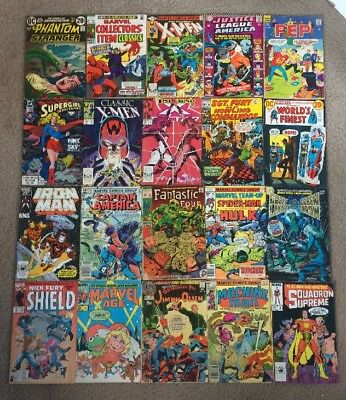 Silver Age And Bronze Age Comic Lot Of 70 Comics Batman X-men