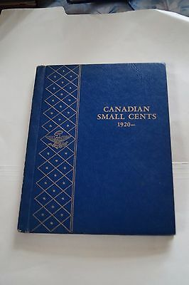 Canadian Small Cents #9501 (1921-19XX) Whitman Classic Album - WITH 46 COINS