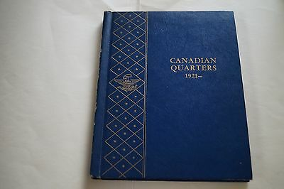 Canadian Quarters #9506 (1921-19XX) Whitman Classic Album - WITH 10 Silve coins