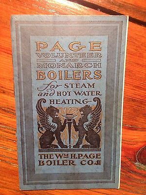 1923 Page Boilers For Steam And Hot Water Heating Catalog