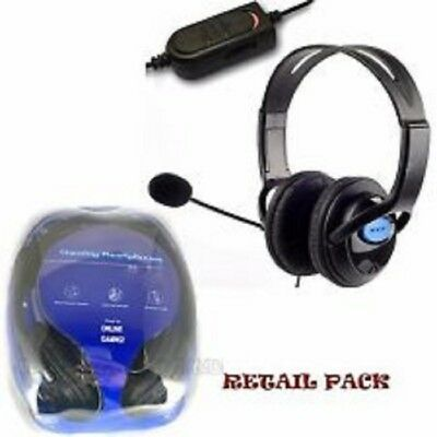 2x DELUXE HEADSET HEADPHONE WITH MICROPHONE VOLUME CONTROL FOR PS4,XBOX1  & PC