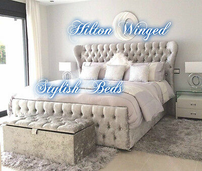 Hilton Winged bed frame Double , King & Super king sizes Avalible