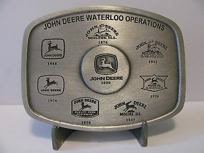 John Deere Waterloo Operations 8 Trademark /Logo Pewter Belt Buckle 2000 Ltd Ed