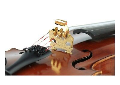 New 3 prong gold metal 4/4 - 3/4 violin practice mute extra quiet free postage