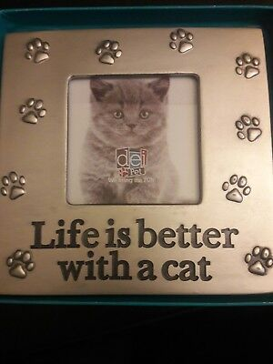 Life is Better with a cat Picture Frame cat prints metal for home work - New
