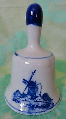 Vintage Miniature Bell WINDMILL Design 3 inches tall