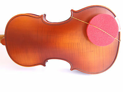 New 2 medium red round rubber sponge violin viola shoulder rest fits all sizes
