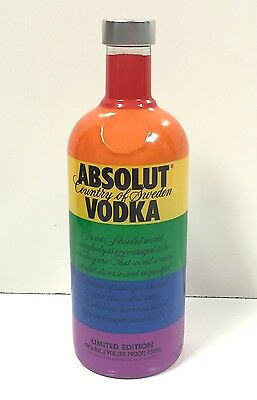 ABSOLUT VODKA Limited Edition Gay Pride Empty Bottle 750 ML