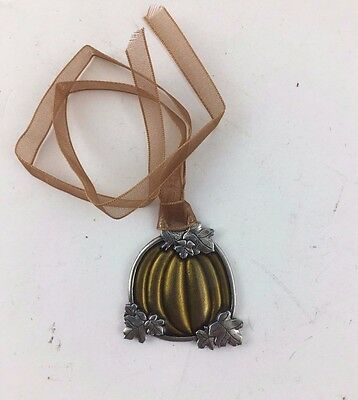 Longaberger Halloween Green Pumpkin Patch Tie On TO