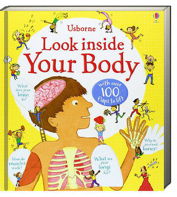 Usborne Look Inside Your Body (bb) Louie Stowell - 100 flaps to lift NEW