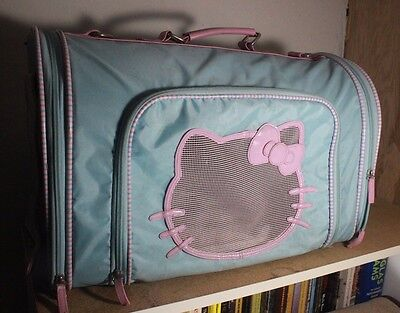 HELLO KITTY Kawaii Pastel Dog Carrier Baby Blue and Light Pink