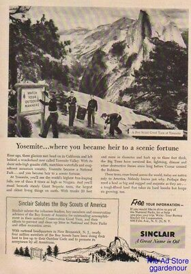 1955 Sinclair Oil Salutes the Boy Scouts of America-Yosemite National Park Ad