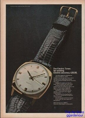 1968 Timex Electric Wrist Watch Vintage 1960's Photo Magazine Print Ad
