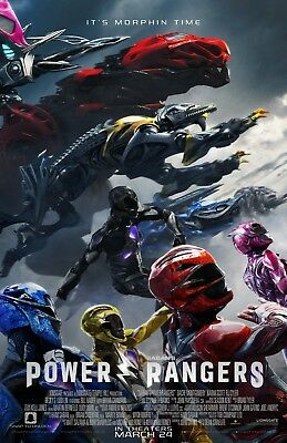 "Power Rangers 2017 ""Final"" 13.5x20 Promo Movie POSTER"