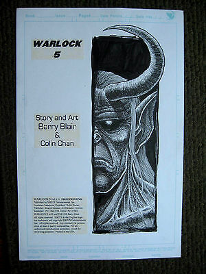 Barry Blair Warlock 5 Vol. 1 #1 opening page big