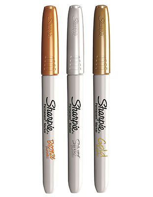 Sharpie Bullet Metallic Pens - Gold, Silver and Bronze - Set of 3