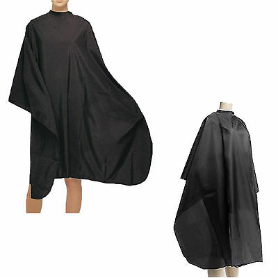 Pro Black Hair Cutting Gown Salon Hairdressing Barber Cloth Waterproof Cape