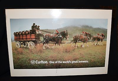 Carlton & United Breweries Limited Wall Hanging 70cm x 46cm Rare Find