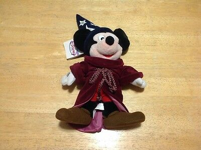 "Disney Store Fantasia Mickey Mouse 12"" Sorcerer Plush with tag"