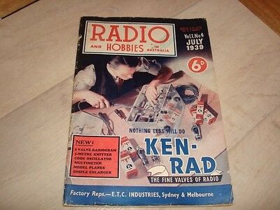 Original Radio and Hobbies in Australia Magazine - July 1939
