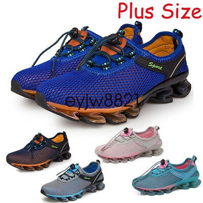 Men Running Sports Shoes Super Light Mesh Athletic Casual Plus Size Breathable