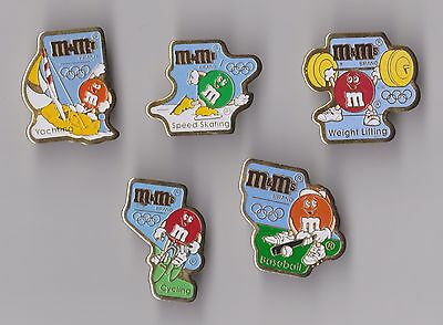 1992 Olympic Games Barcelona Spain pin badges M&M's MARS Cycling Speed Skating