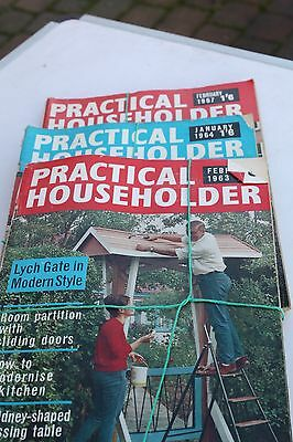 Vintage Practical Householder Magazines Various Issues from 1960's