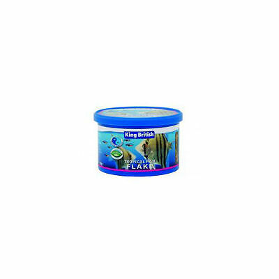 King British Poissons Tropicaux Nourriture Flocon 12g Aliments Poisson/Amphibien
