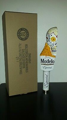 Modelo Especial Tap Handle Skull Ceramic Day of the Dead ~ NEW & F/S
