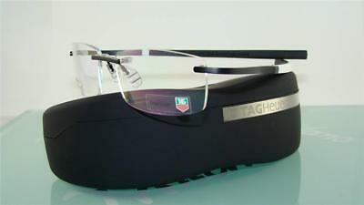 Tag Heuer TH 0344 008 Black & White Rimless Glasses Eyeglasses Frames Size 57