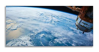 Earth Space Satellite Blue Panorama Canvas Wall Art Picture Home Decor Picture